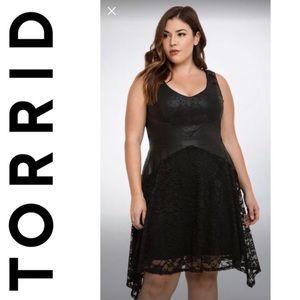 Torrid / Leather & Lace Dress sz 12